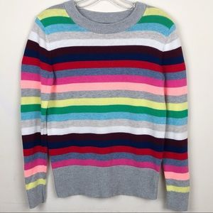 Gap Crazy Stripe Light Heather Grey Sweater
